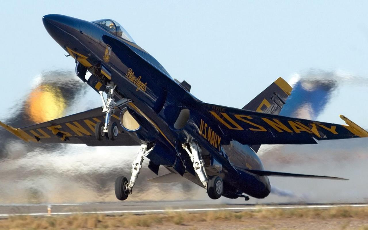 McDonnell Douglas FA 18 Hornet   Blue Angels wallpaper 2575 1280x800