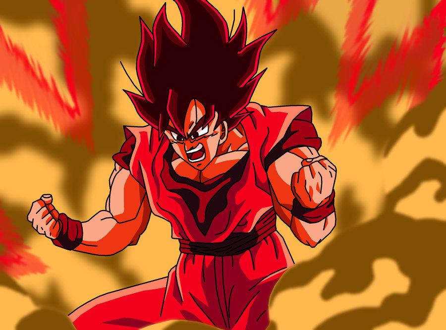 Goku Powering up Wallpapers Goku Kaioken Power up by 900x666