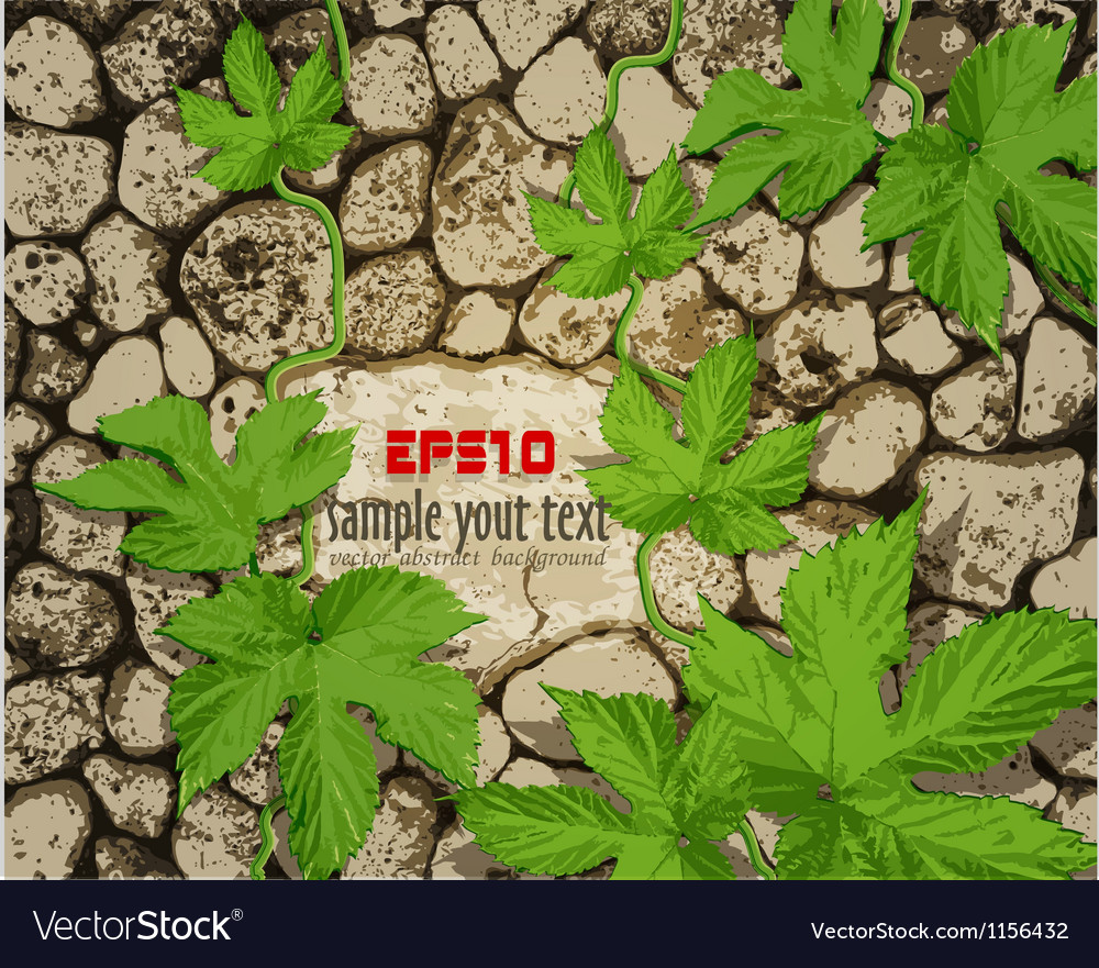 Background with stonework Royalty Vector Image 1000x881