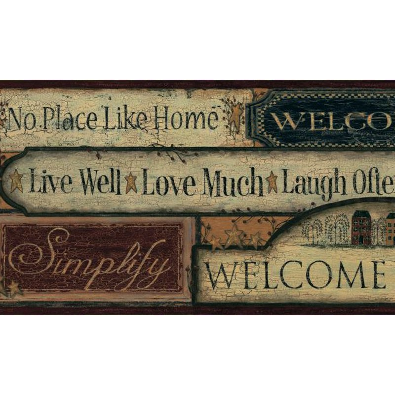 Wallpaper Border Country Country Signs Border 800x800
