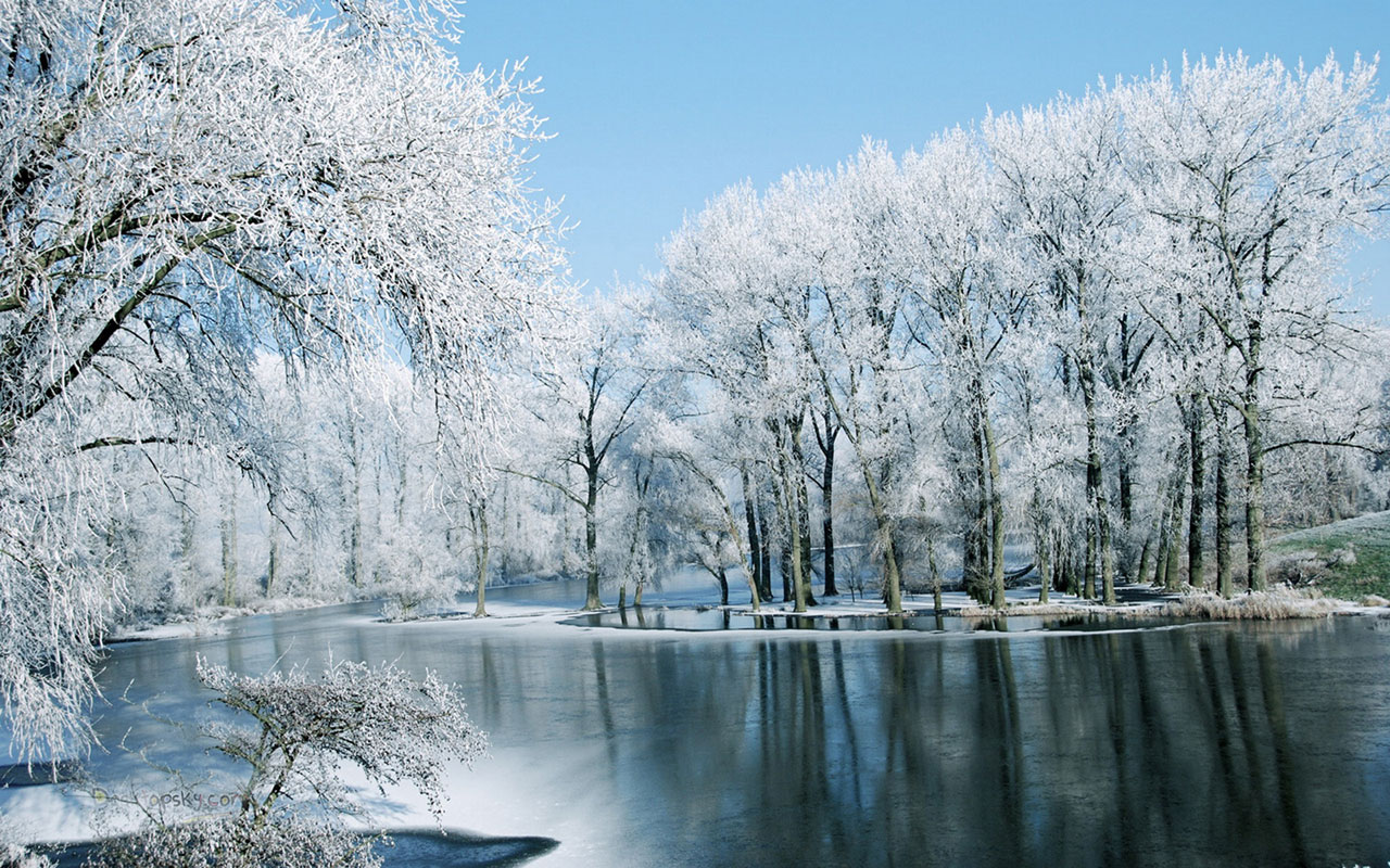 Winter lake views HD photography wallpaper 8 Landscape Wallpapers 1280x800
