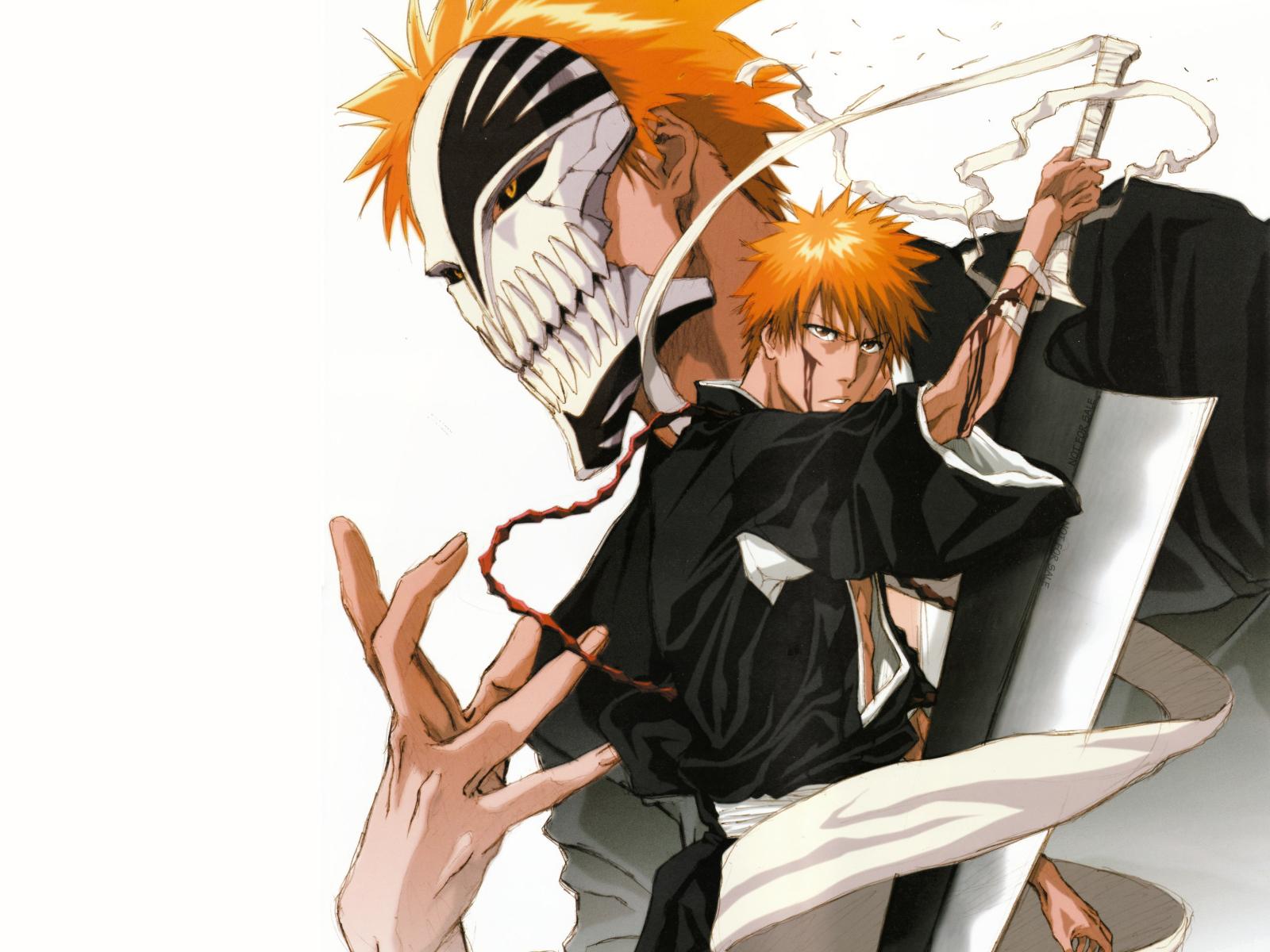 bankai hollow ichigo kurosaki bleach anime wallpaper background 1600x1200