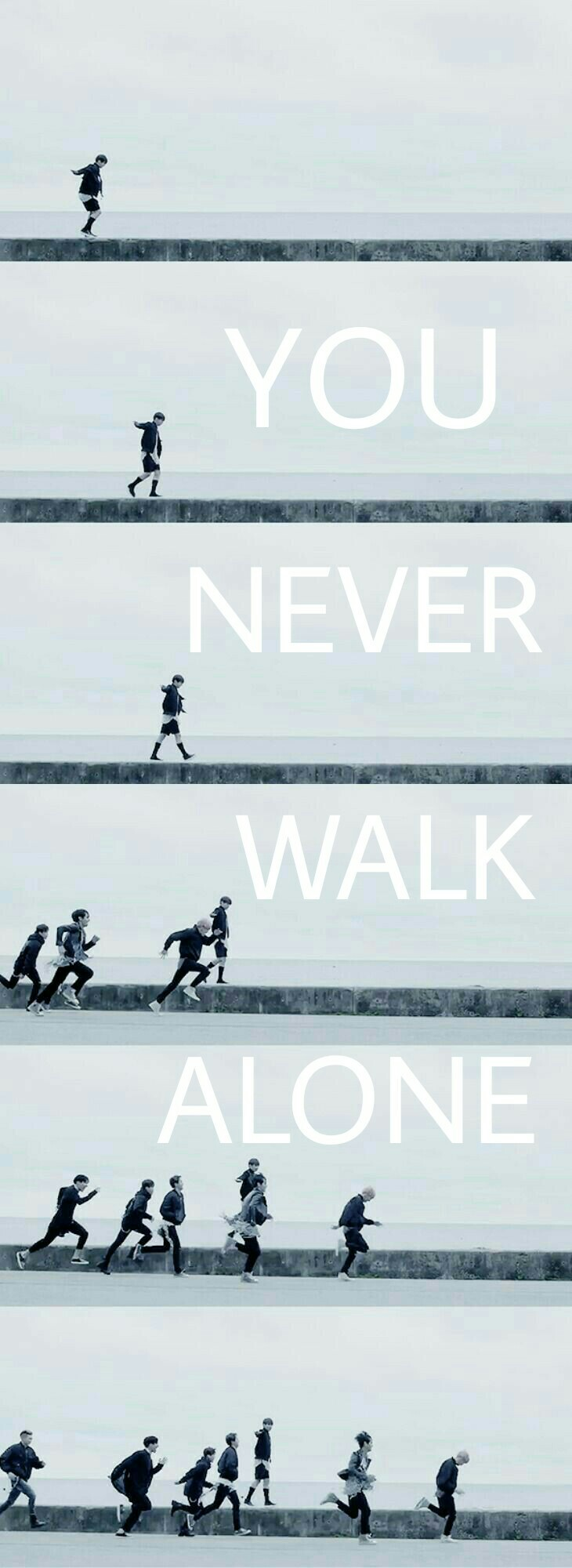 YOU NEVER WALK ALONE  BTS BTS Pinterest BTS Bts 730x2000