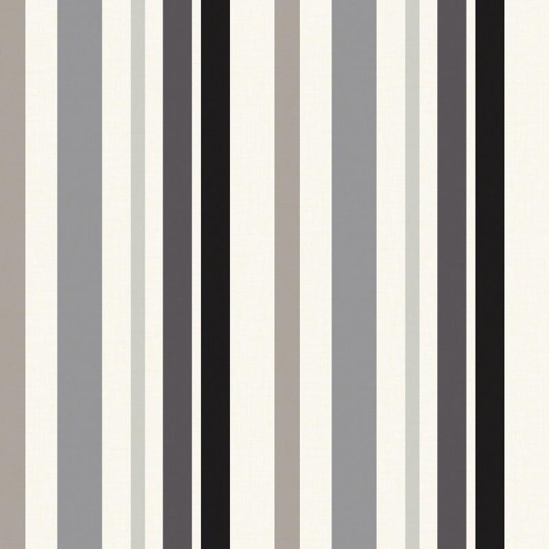 Matisse Black Gunmetal Grey Striped Wallpaper by GranDeco 922120 800x800