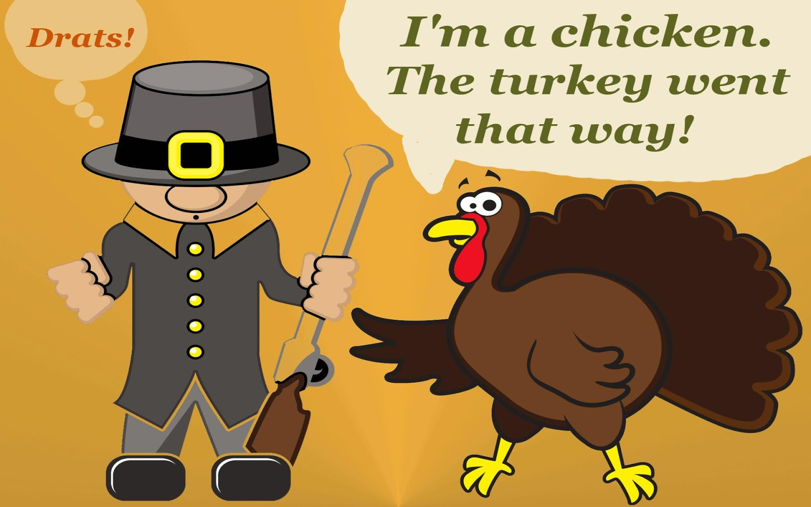 Thanksgiving Day 2012   Funny HD Thanksgiving Wallpapers 1600x1000
