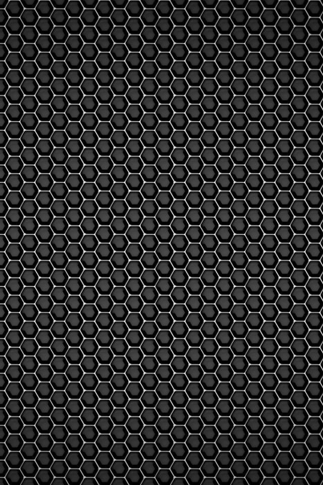 Black metal textures mesh honeycomb wallpaper 32329 640x960