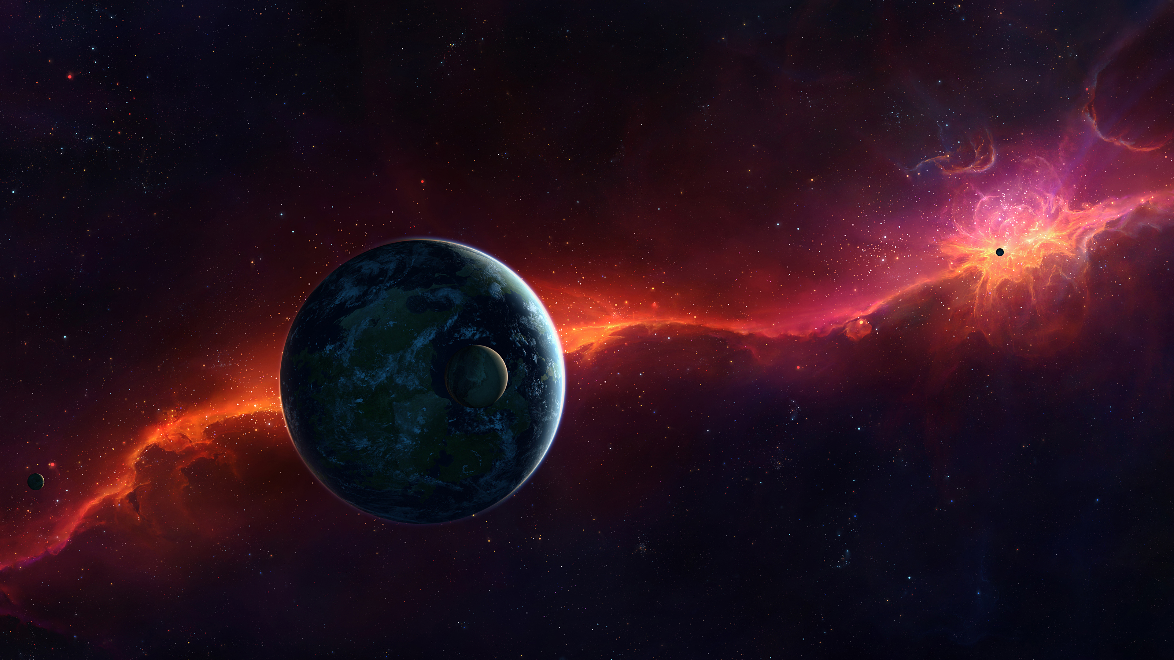Full HD Wallpapers Space Earth Nebulae Planets Stars 4K Ultra 3840x2160