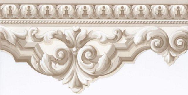 Interior Place   Beige Crown Molding Wallpaper Border 1299 http 640x322