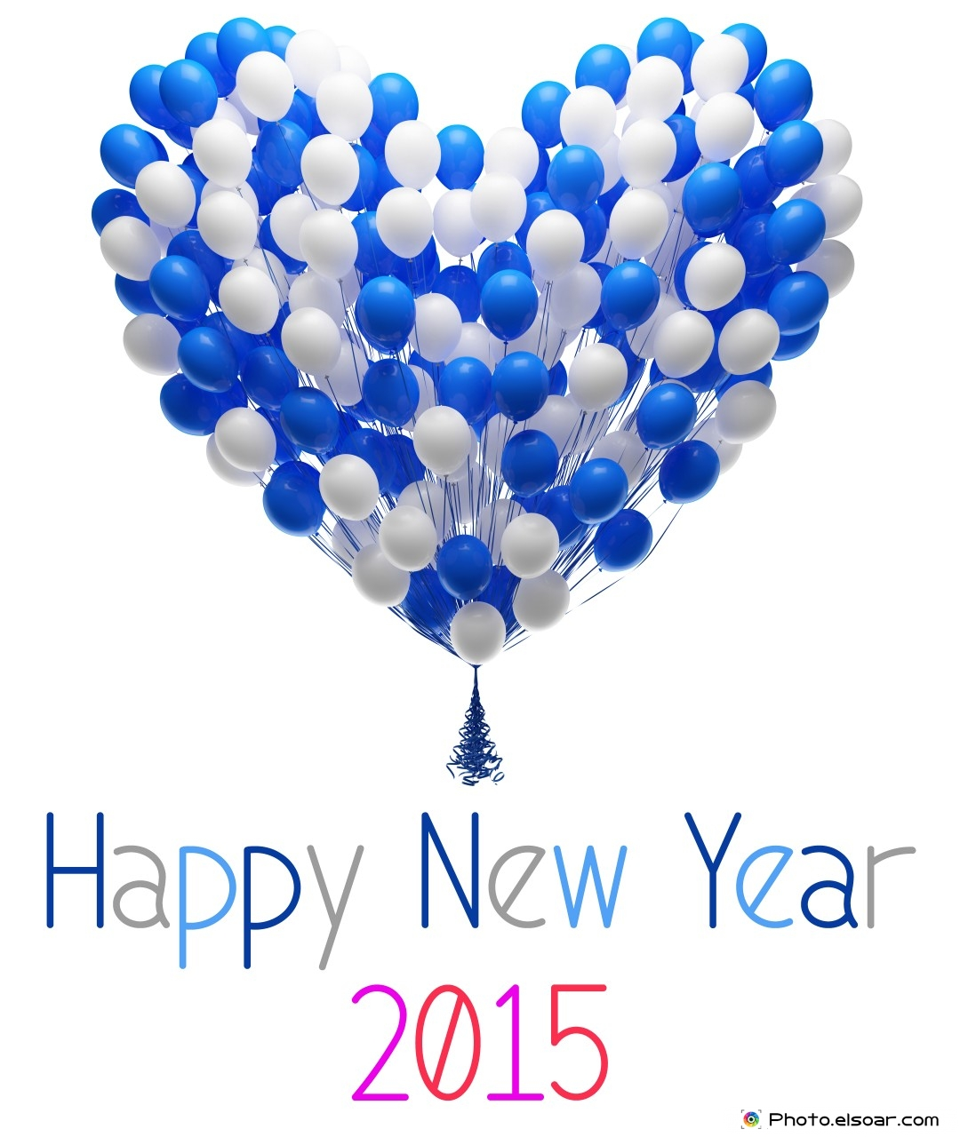 Top 10 Wallpapers For Happy New Year 2015 With Colorful Balloons 1080x1280