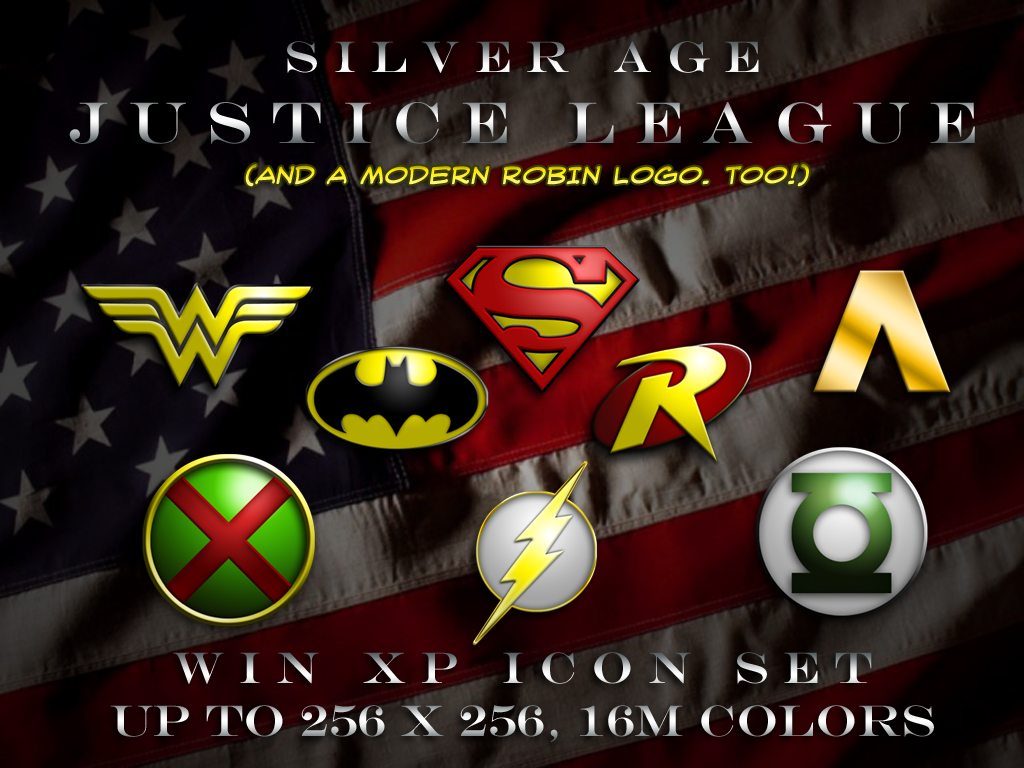 SilverAge Justice League Logos by BadlyDrawnDuck 1024x768