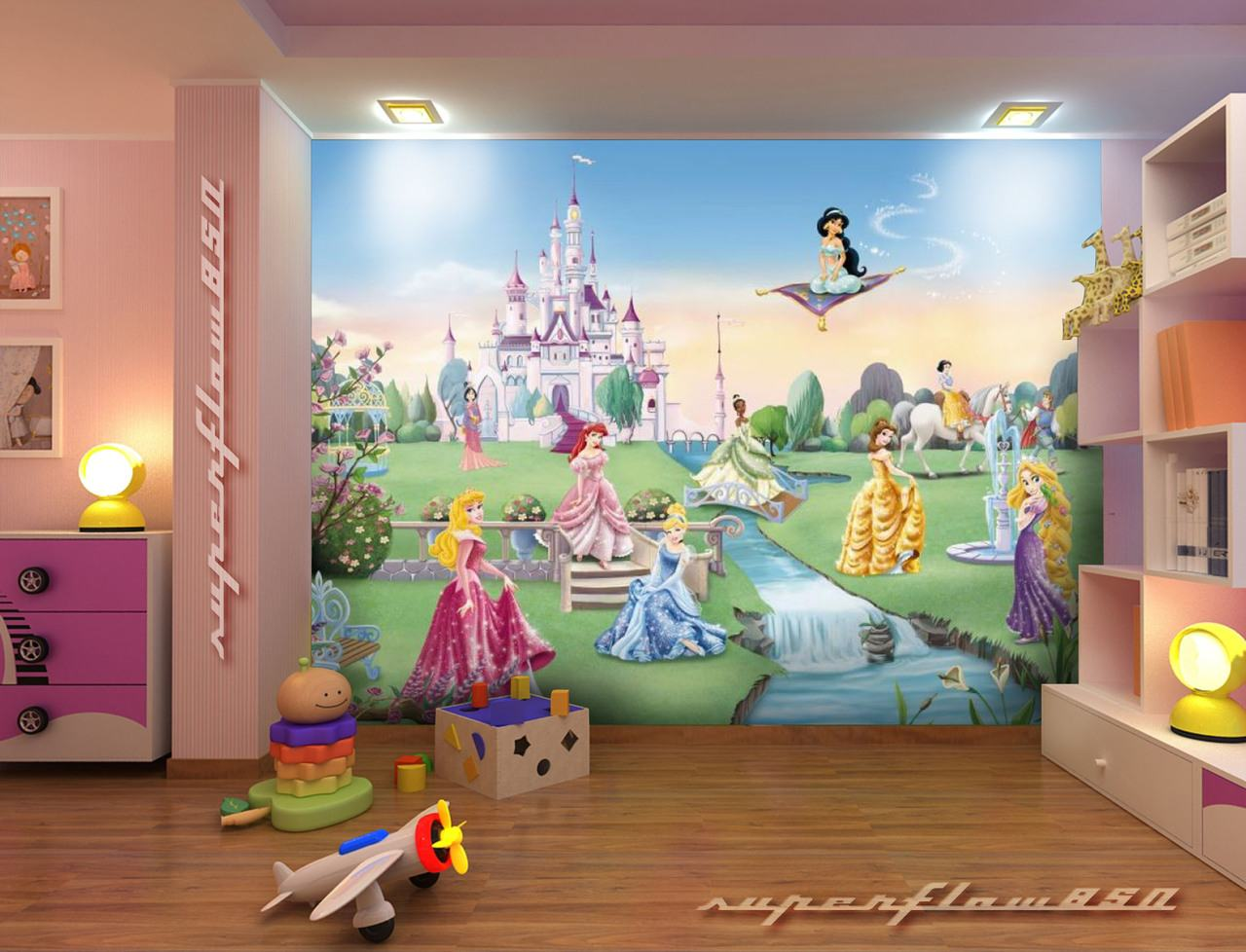 disney Princess Castle Disney Wallpaper Mural KIDS eBay HD Wallpapers 1280x978
