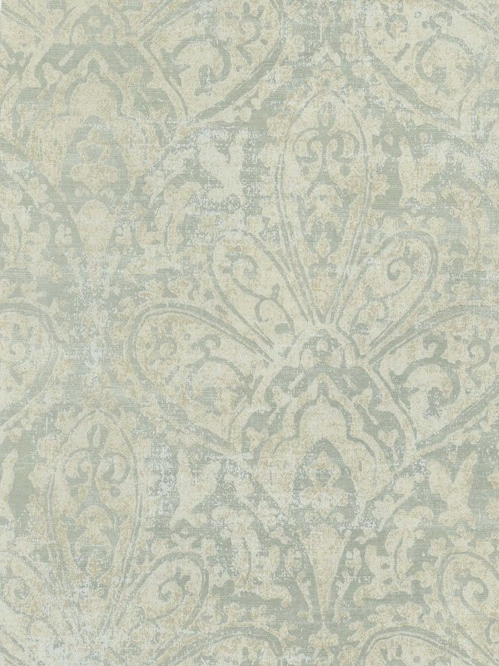 Faded Blue Balzarine Damask Wallpaper   Traditional Wallpaper 720x960