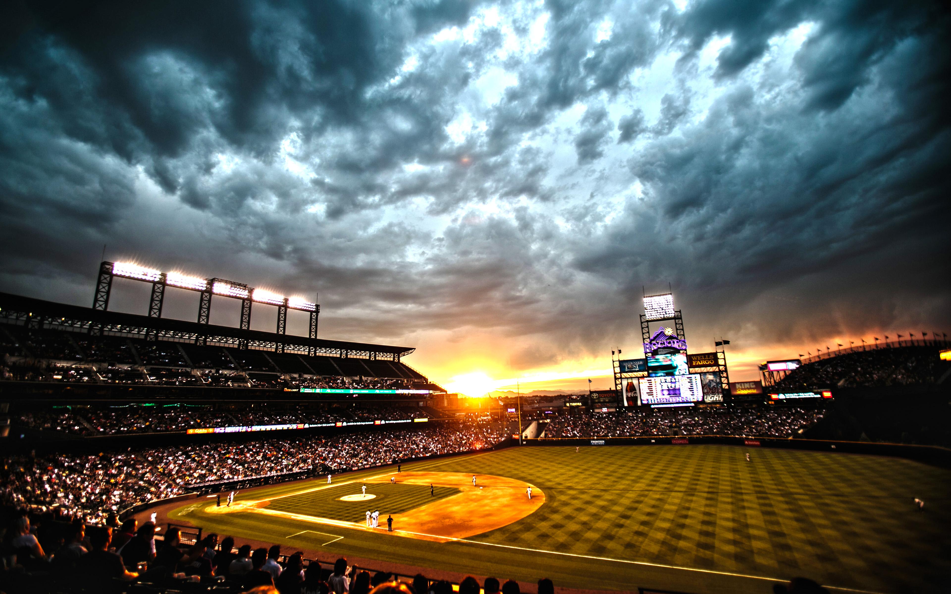 Colorado Rockies ballpark Coors Field Denver Colorado Wallpaper 3840x2400