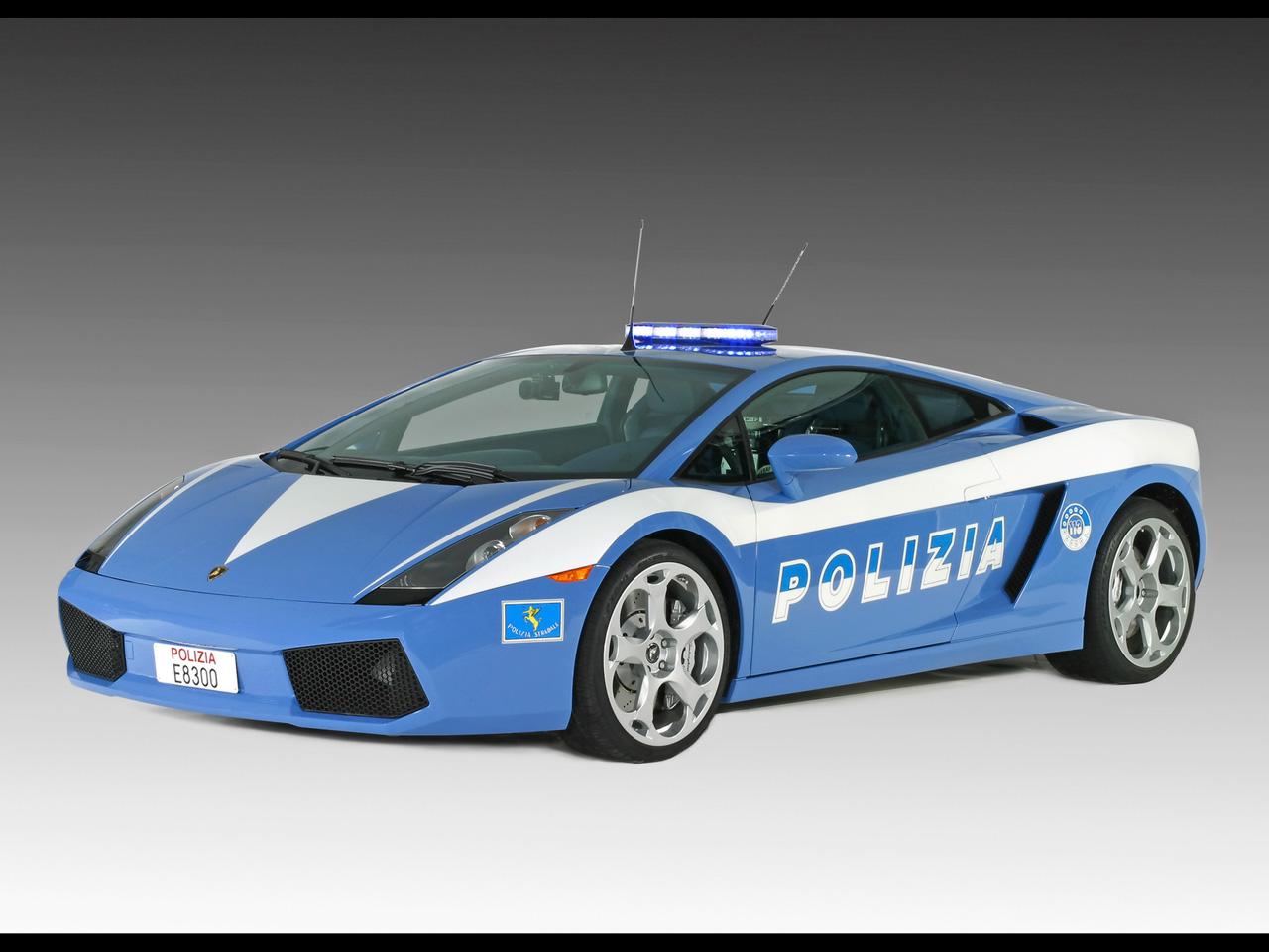wallpaper wallpaper Lamborghini Gallardo Italian State Police 1280x960