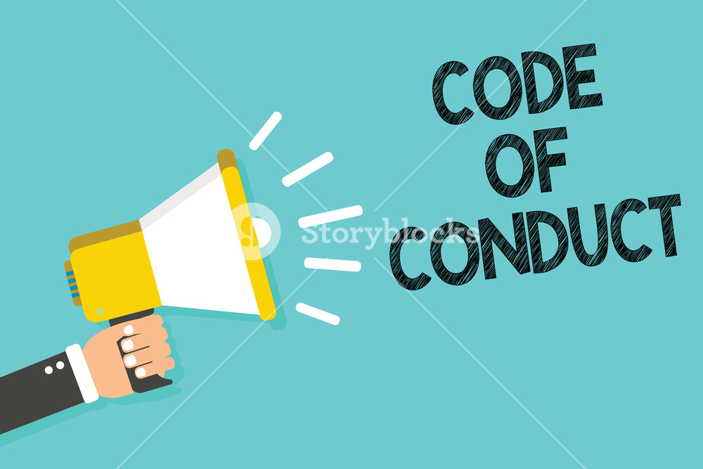 Writing note showing Code Of Conduct Business photo showcasing 1000x667