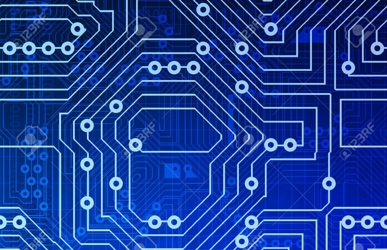 Computer Circuits Background Texture As A Design Stock Photo 1300x840