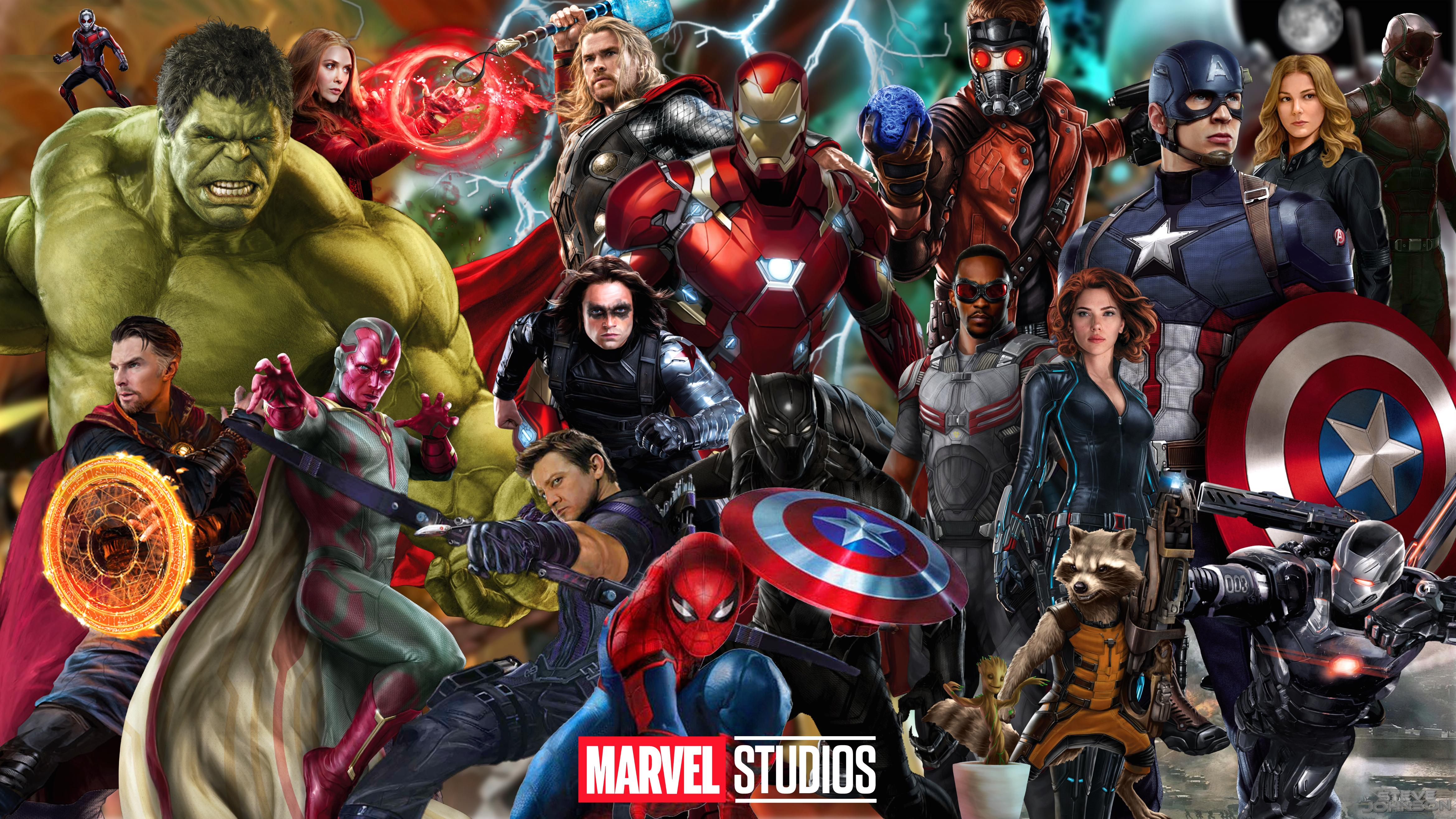 I made an MCU Wallpaper with the current Avengers Guardians 4679x2632