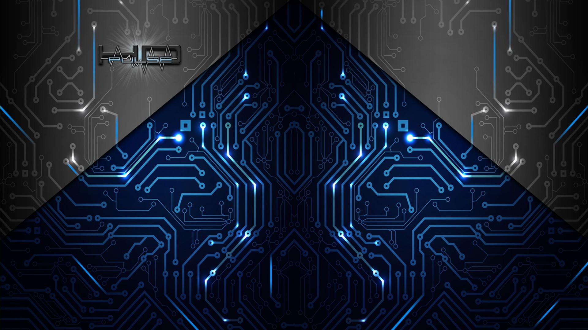 Abstract artistic electronics circuit board wallpaper 1920x1080 1920x1080