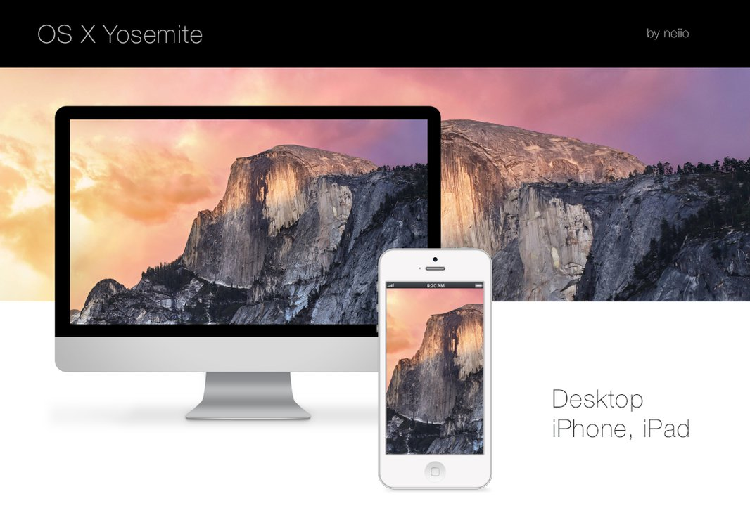 Mac OS X Yosemite Wallpaper Pack by neiio 1066x750
