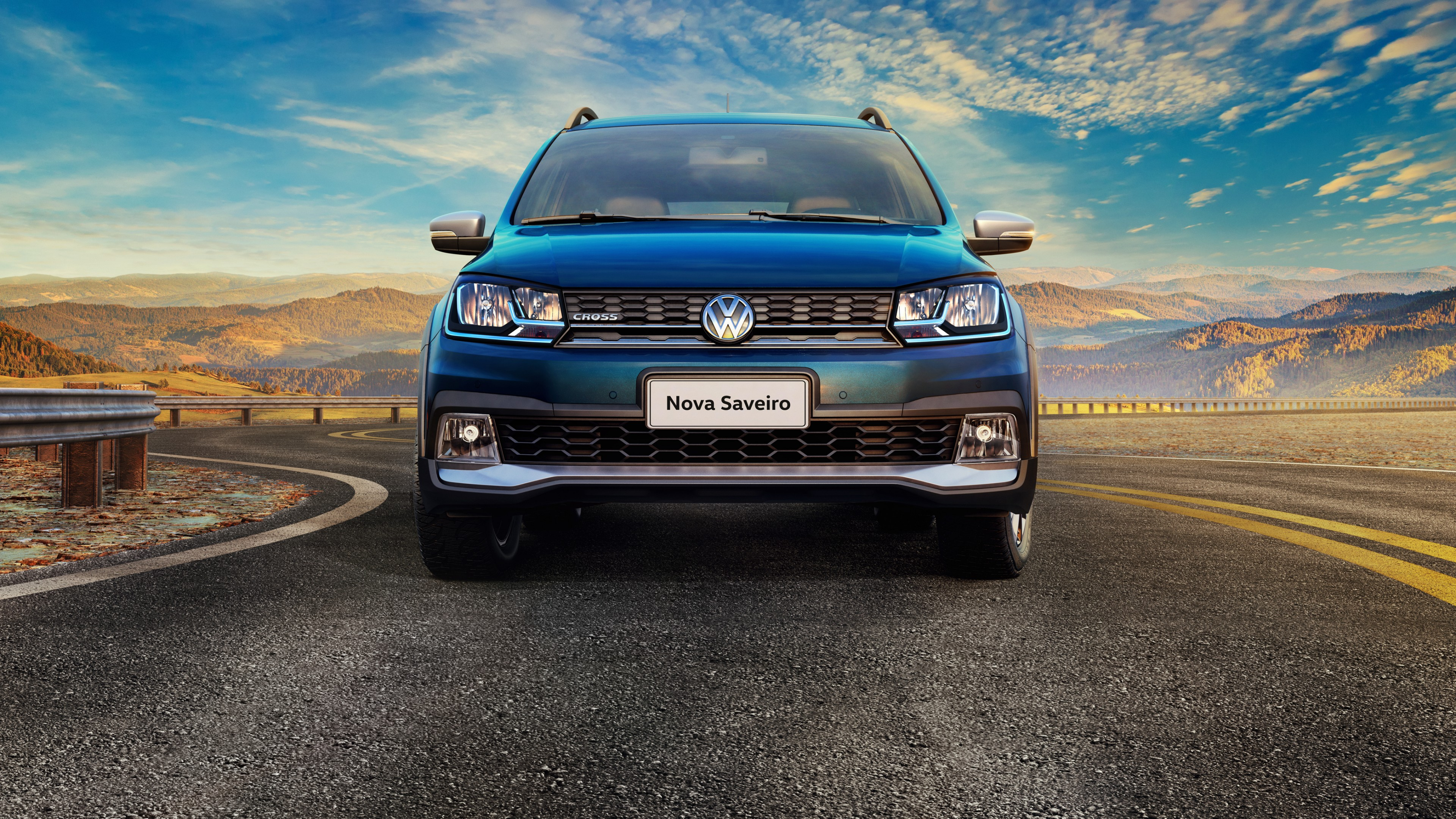 Wallpaper Volkswagen Saveiro Cross CD pickup blue Cars Bikes 3840x2160