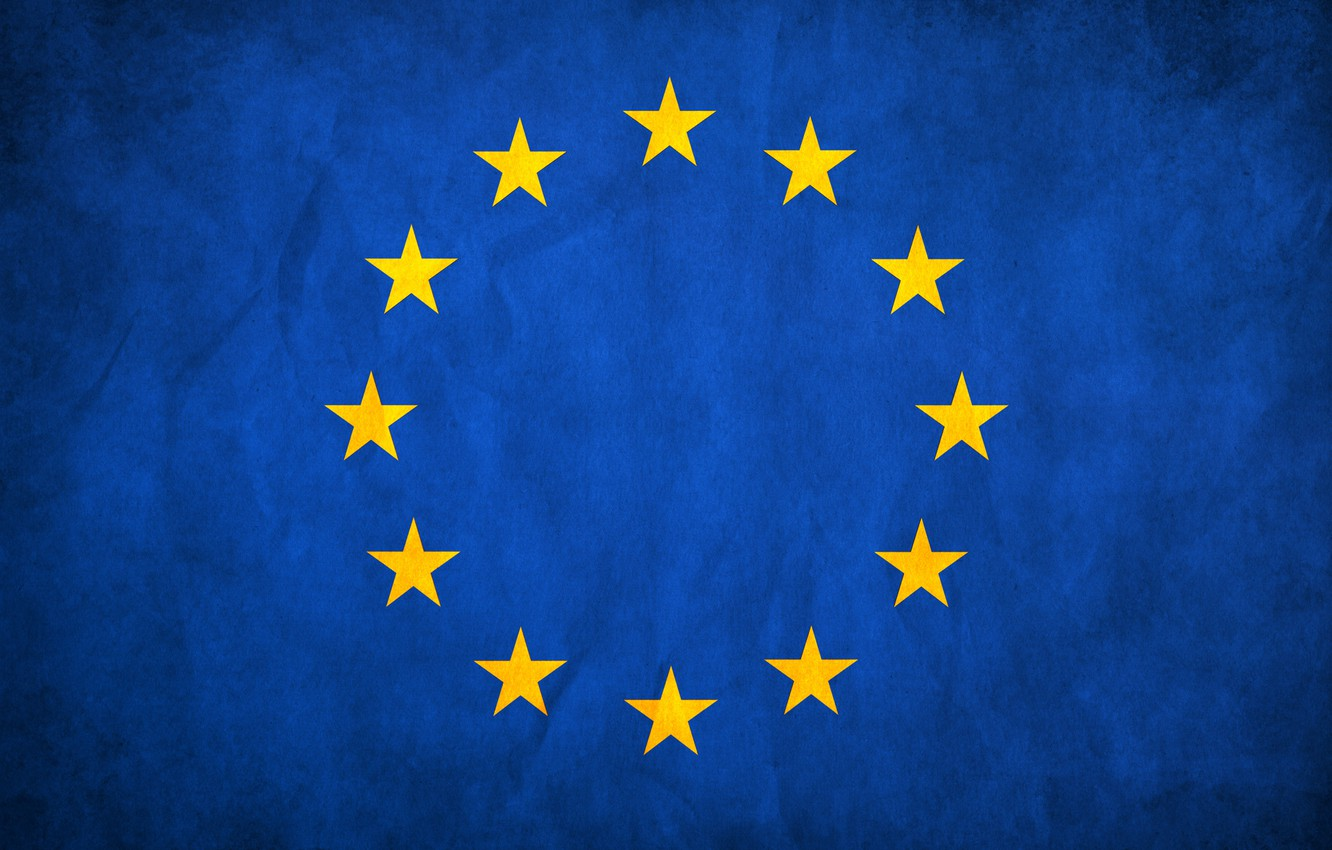 Wallpaper stars blue flag Europe The European Union images for 1332x850