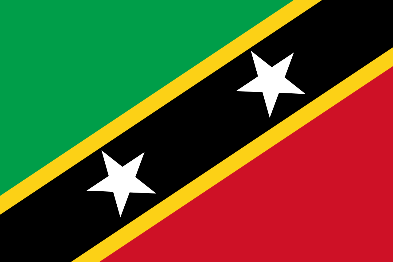 Official Wallpaper Of The Flag Of Saint Kitts And Nevis PaperPull 1280x853