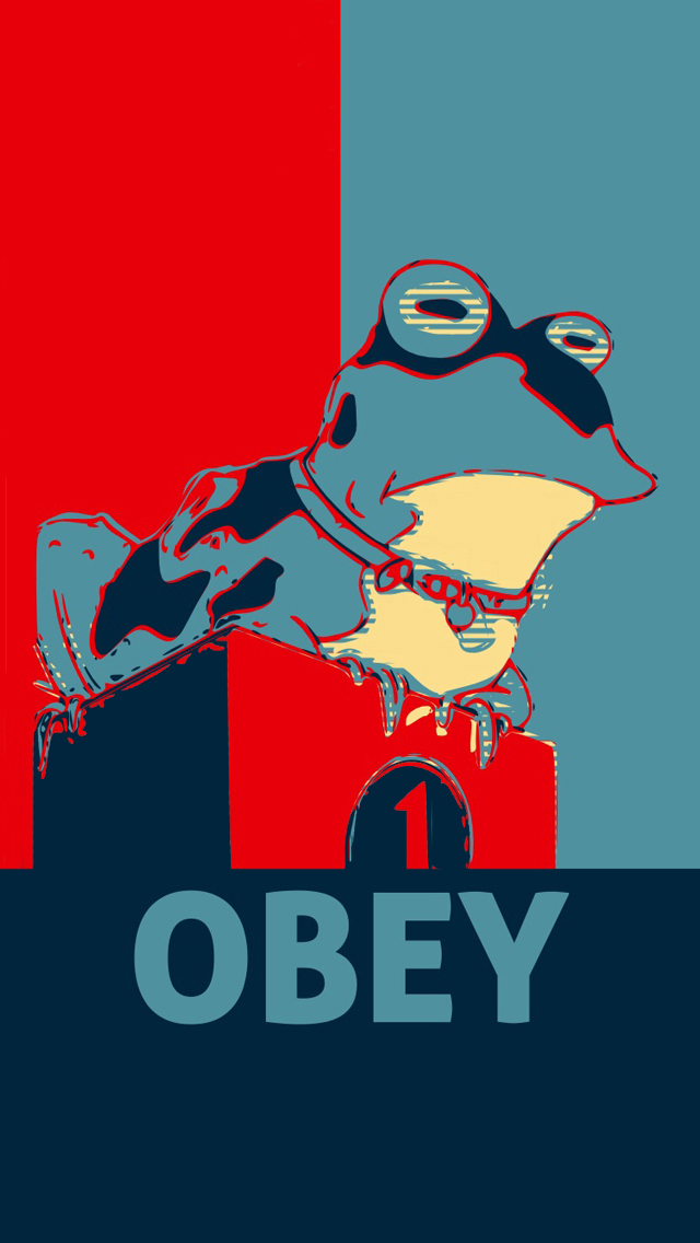 Obey Hypno Toad iPhone 5 Wallpaper 640x1136 640x1136
