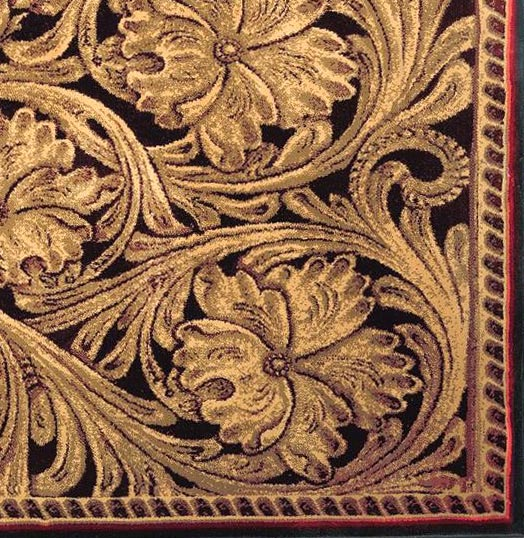 Tooled Leather Patterns Tooled leather rug closeupjpg 524x538