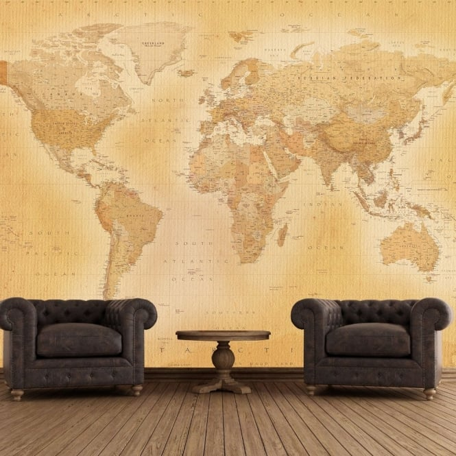 Murals 1 Wall 1 Wall Vintage Old Map Giant Wallpaper Mural 665x665