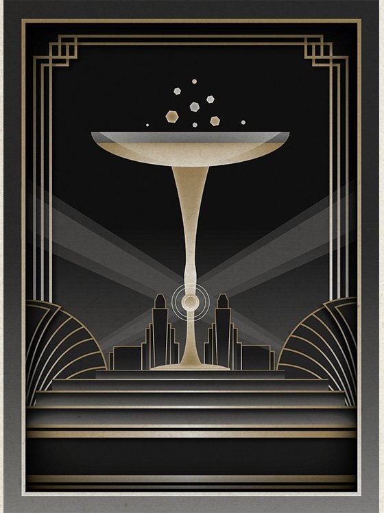 Art deco wallpaper desktop wallpapersafari - Deco vol ...
