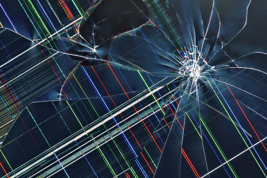 Broken Tv Screen Wallpaper Wallpapersafari