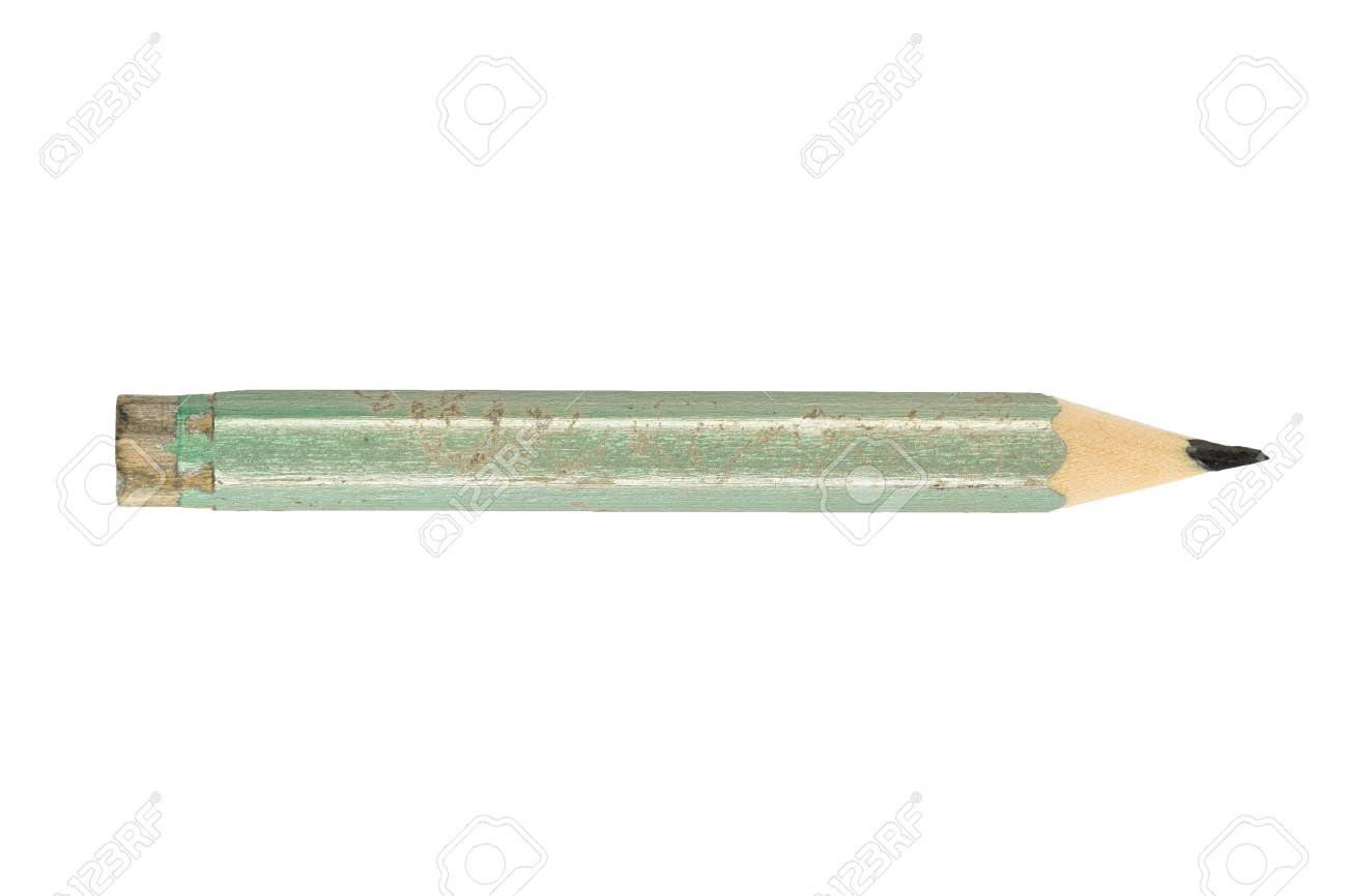 Pencil Stub Isolated On White Background Stock Photo Picture And 1300x866