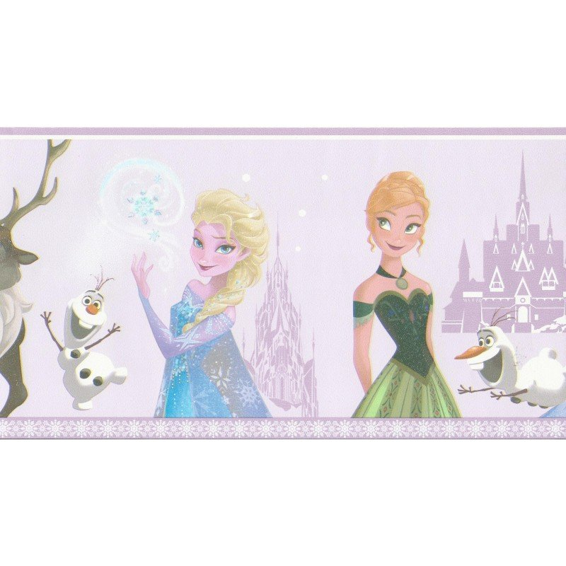 Disney Frozen Lilac Self Adhesive Wallpaper Border by Galerie FR3503 3 800x800