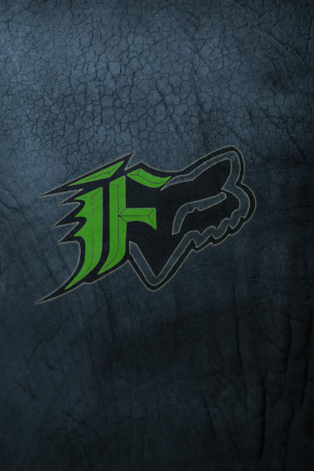 Blue Fox Logo Wallpaper Fox green logo   blue grunge 640x960