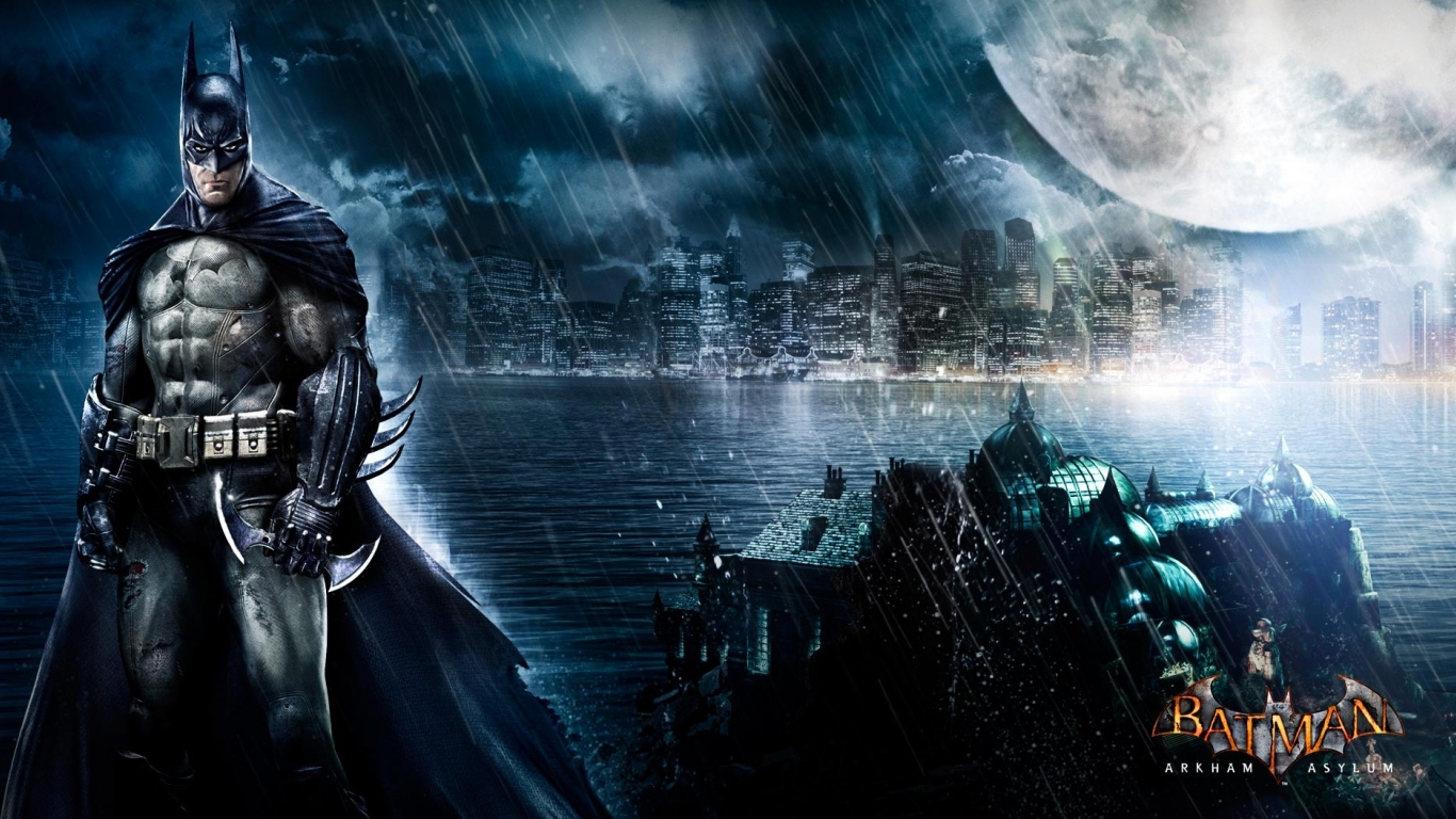 Pics Photos   Batman Arkham Asylum Wallpaper 1366x768