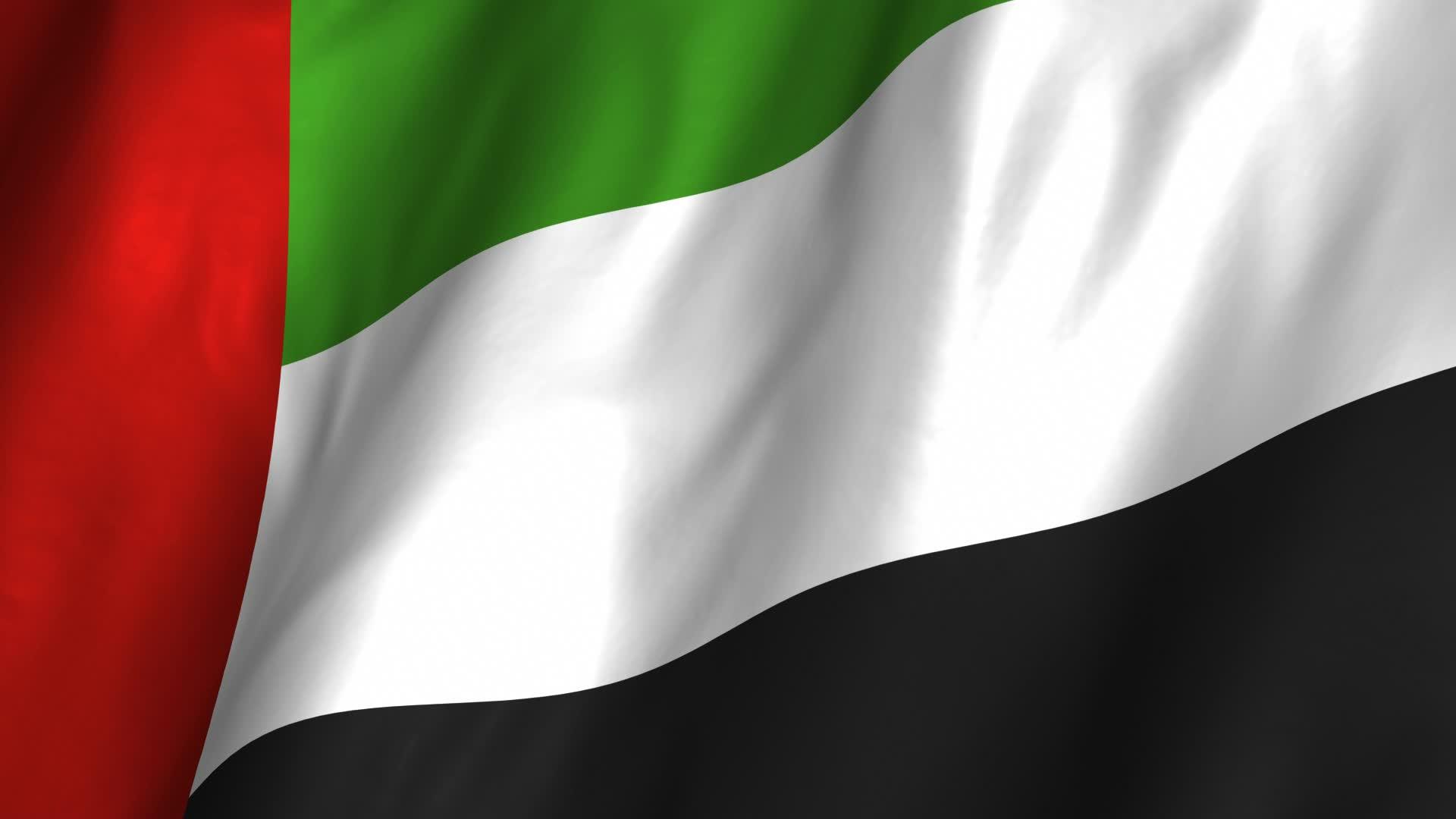 United Arab Emirates Waving Flag Stock Video 12367150 1920x1080