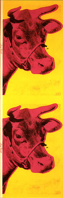 Andy Warhol Cow Wallpaper 1966 208x650