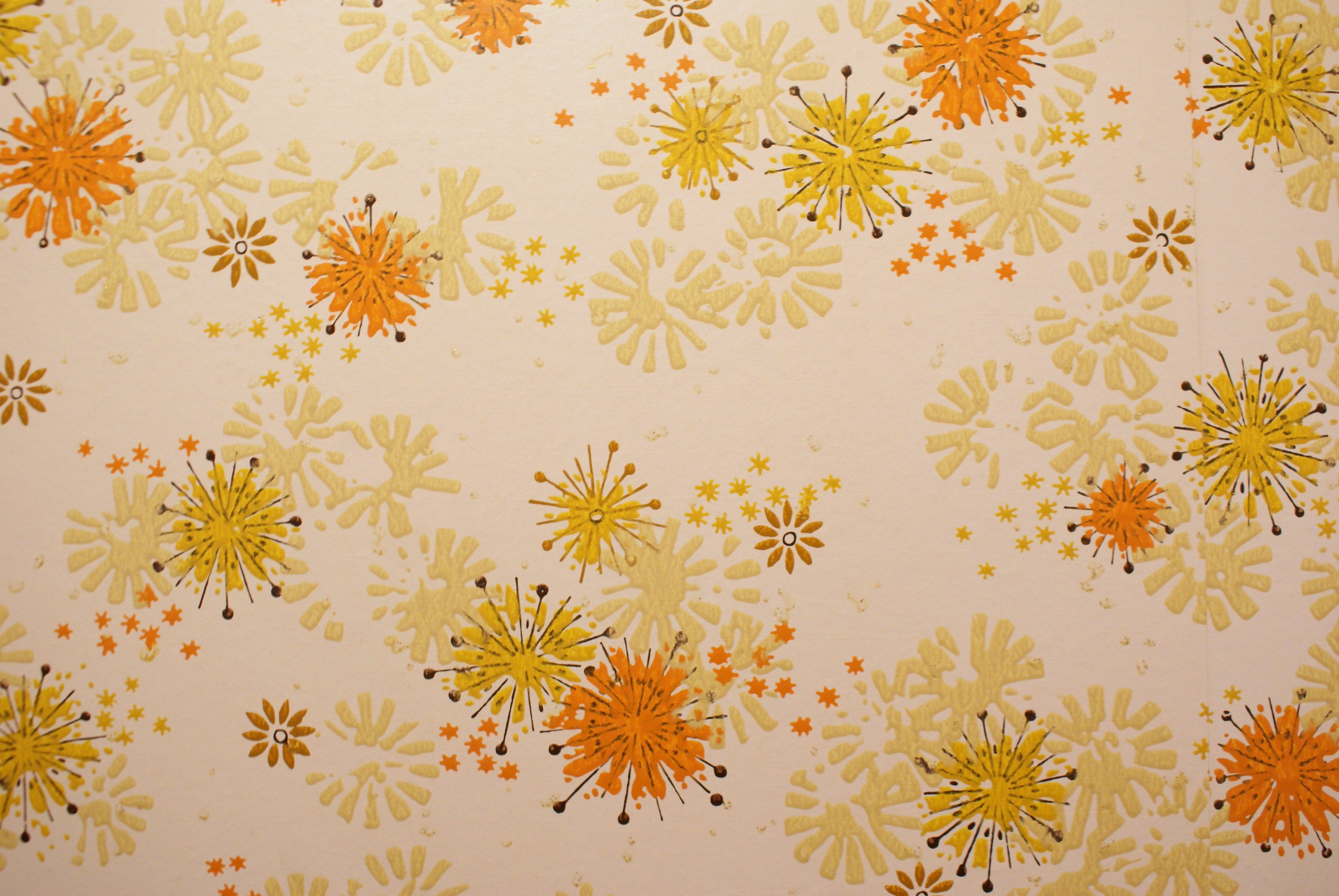 Vintage Wallpaper vintage orange wallpaper retro 70s 1970s yellow 3872x2592