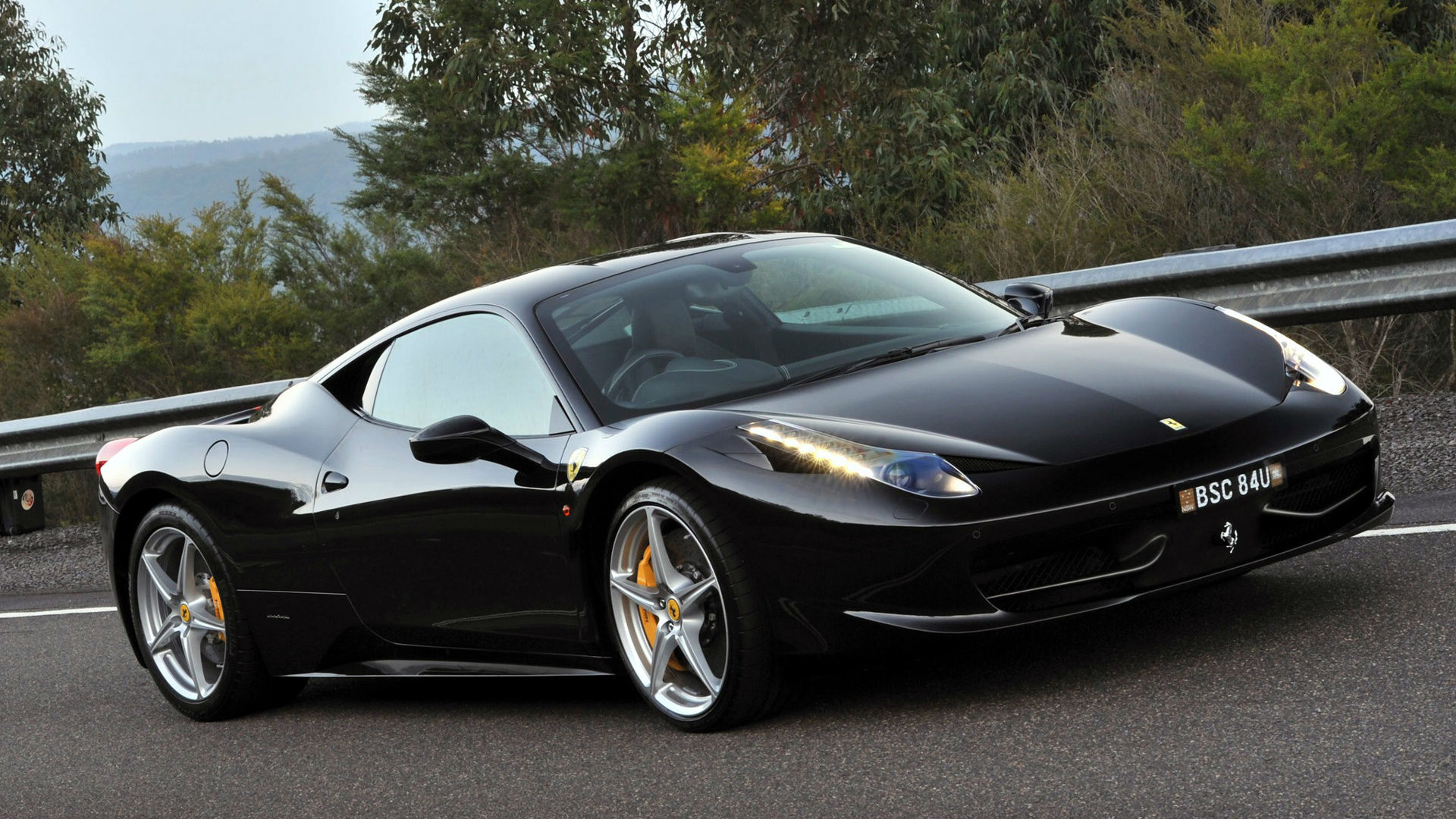 Black Ferrari 458 Italia Wallpaper   iBackgroundWallpaper 1920x1080