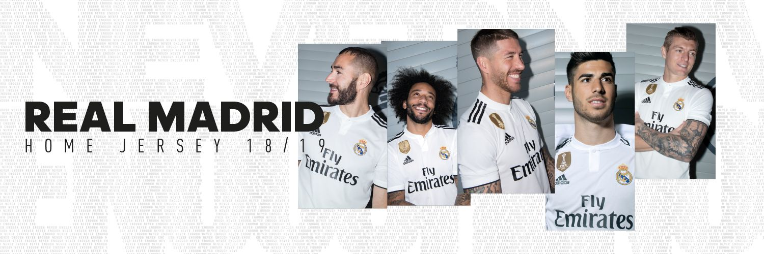 Heres the new shirt for the 201819 season Real Madrid CF 1500x500