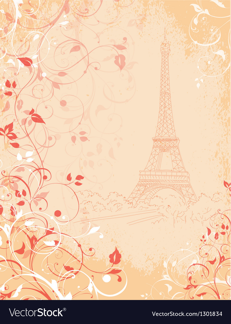Paris background with eiffel tower Royalty Vector Image 772x1080