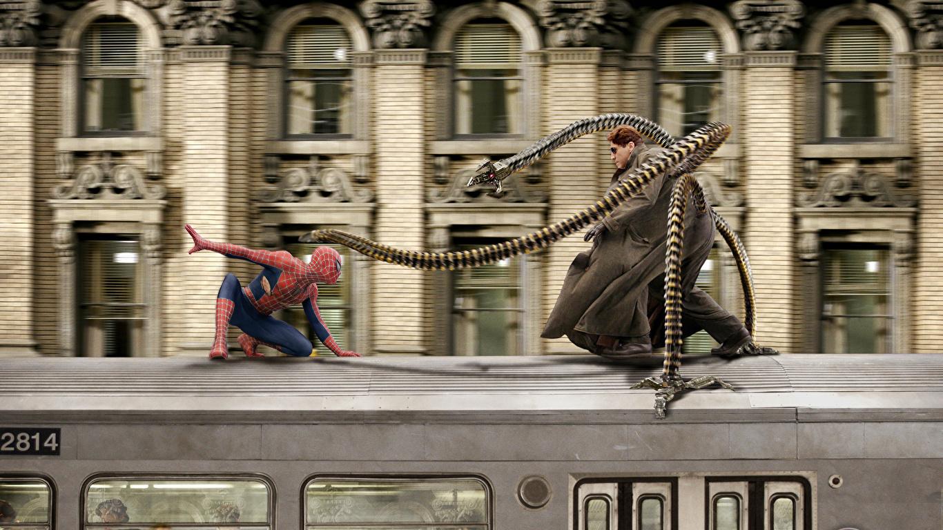 Photos Spider man Spiderman hero Tobey Maguire Peter 1366x768 1366x768