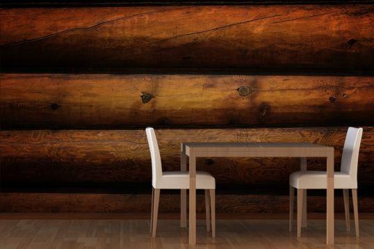 Log Cabin Wallpaper Real Log Look Rustic Lodge Log cabin wallpaper 538x358