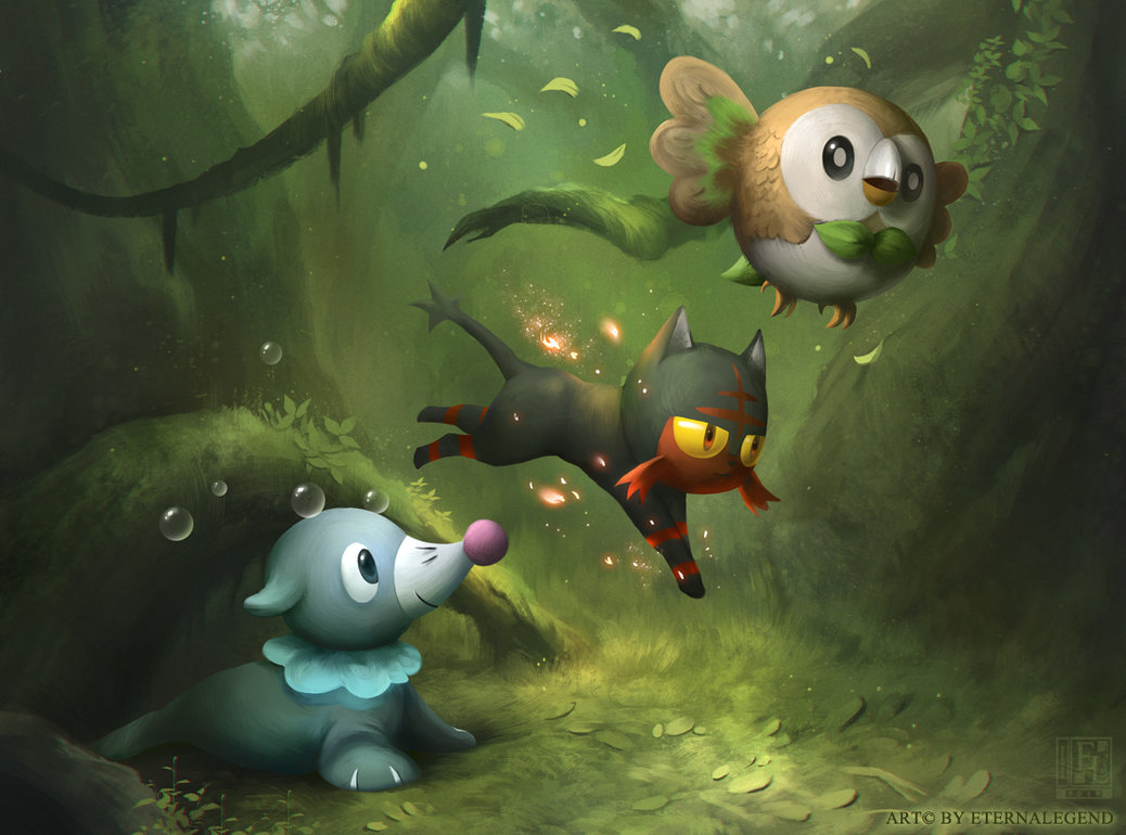 Free Download Sun And Moon Starters By Eternalegend