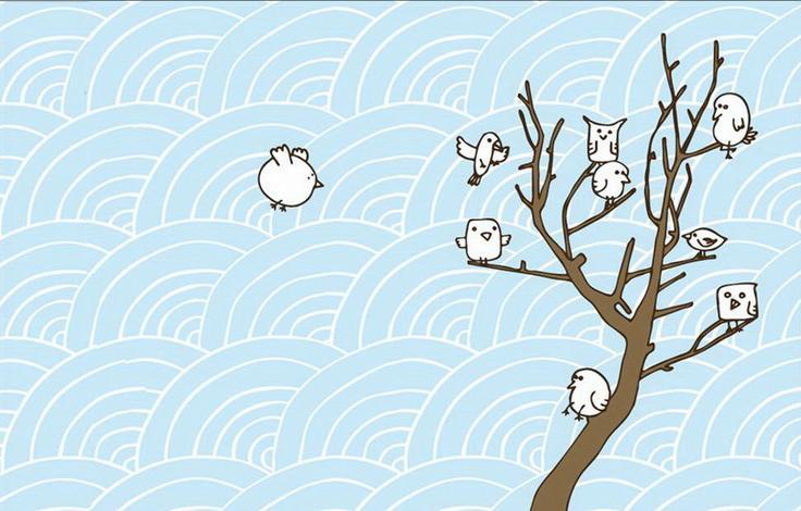 Wallpaper goes big on birds   The Design Sheppard 736x470
