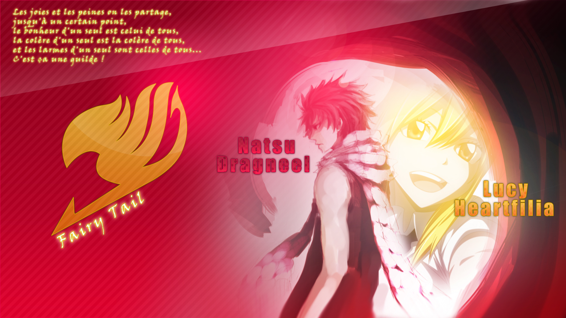 Natsu Lucy Fairy Tail Wallpaper by SaenyanEin 1920x1080