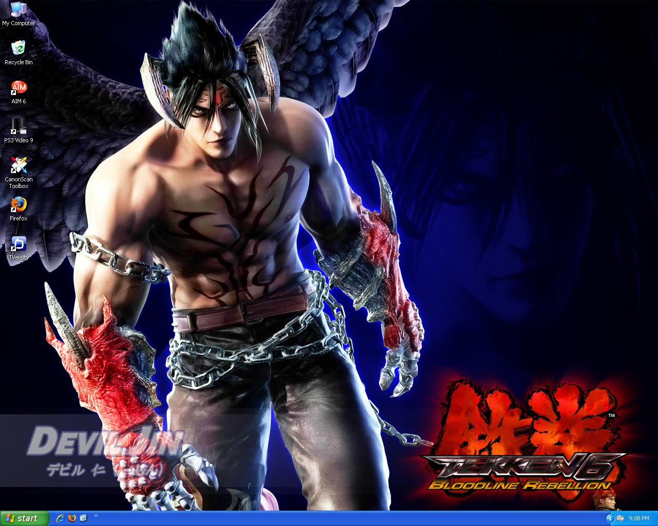 Devil Jin Wallpaper 4 14 2009 by SonKitty 1280x1024