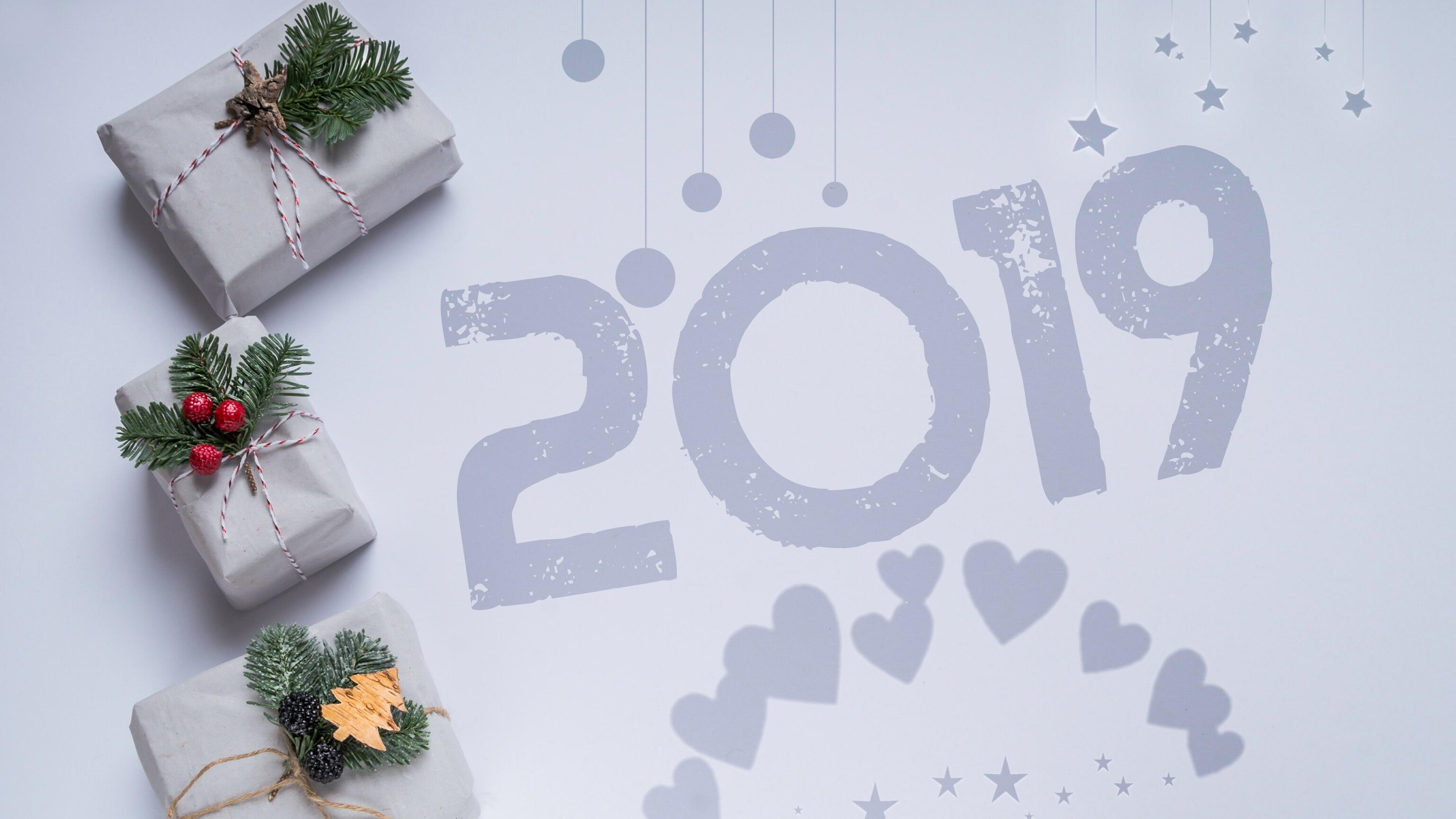 4K Christmas Presents New Year 2019 Kado Winter Wallpaper 38451 3840x2160