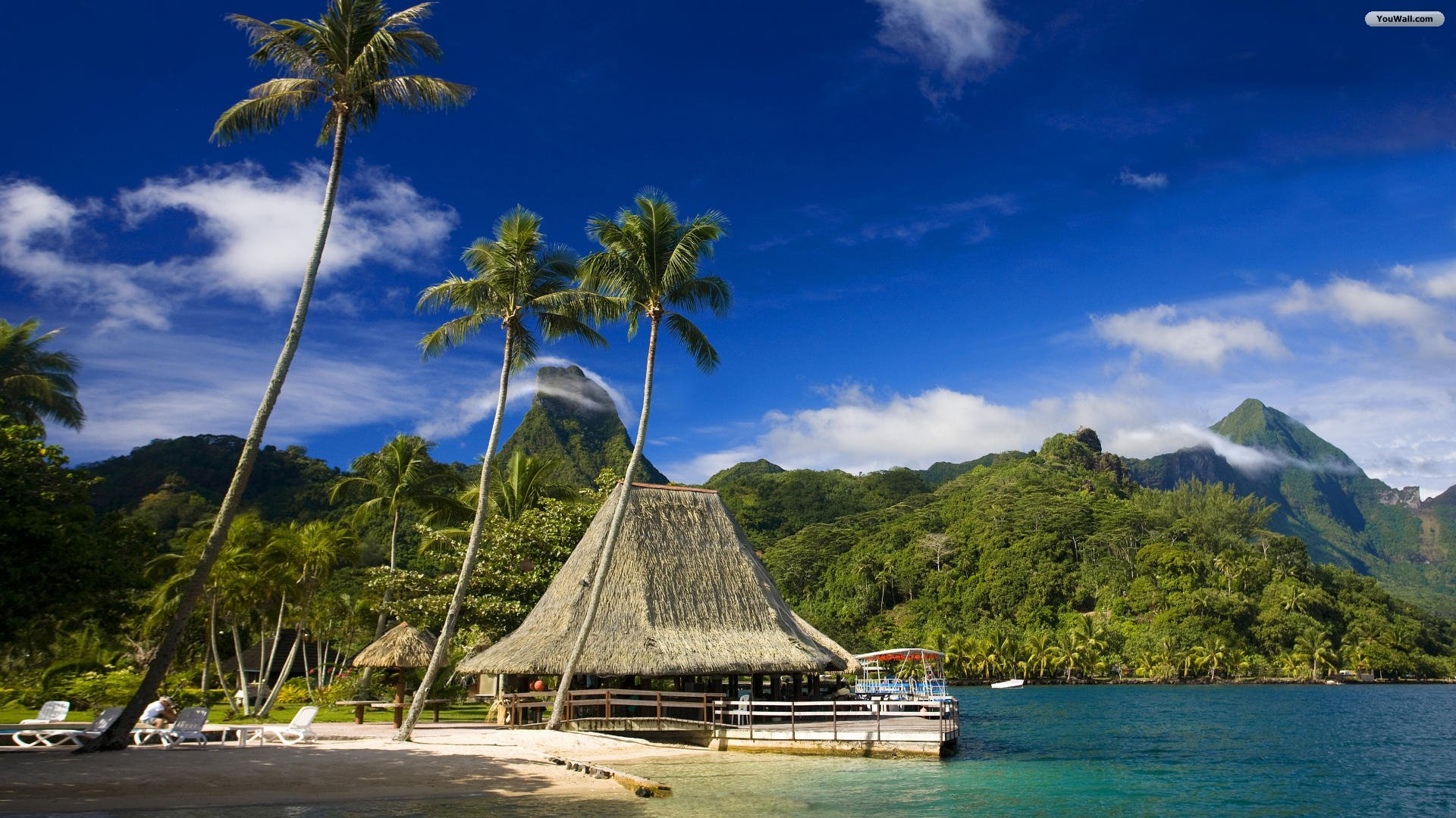 hd tropical island beach paradise wallpapers and backgrounds 1920x1080
