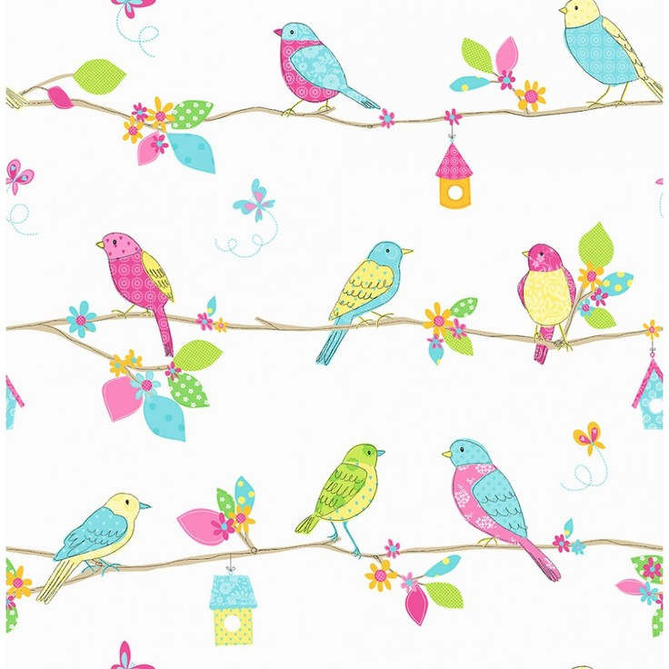 Pretty Birds Wallpaper patternsprintables Pinterest 736x736